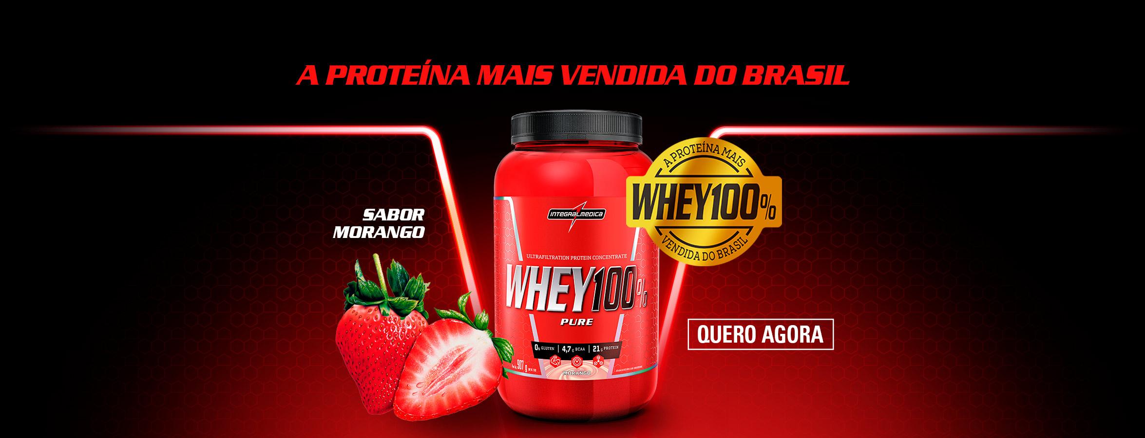 Whey 100% - Morango