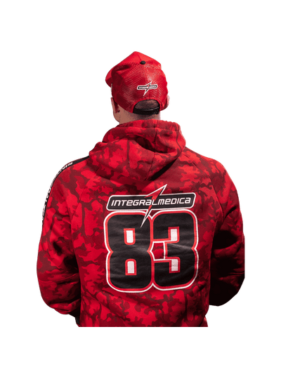 Hoodie Integralmédica Red Camouflage - Moletom Canguru - Costas
